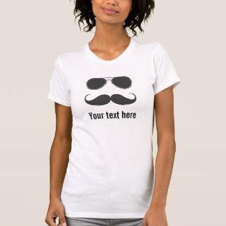 vidrios y bigote camisetas