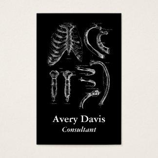 Vieja anatomía que dibuja el esternón y las tarjeta de negocios