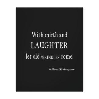 Vieja cita de Shakespeare de las arrugas del Impresión De Lienzo