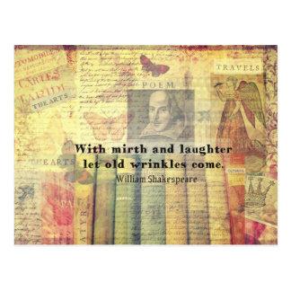 Vieja cita de Shakespeare de las arrugas del Postal