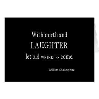 Vieja cita de Shakespeare de las arrugas del Tarjeta