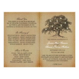 Vieja colección del boda del roble del vintage - folleto 21,6 x 28 cm