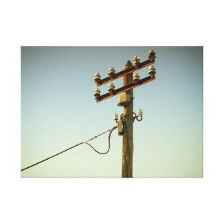 Vieja electricidad lienzo