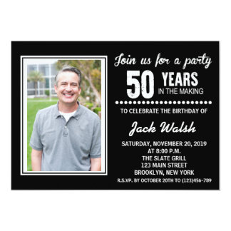 Vieja invitación de la fiesta de cumpleaños de la