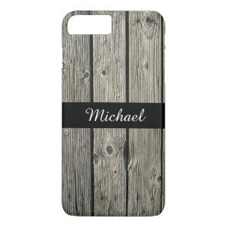 Vieja mirada de madera resistida rústica funda iPhone 7 plus