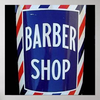 vieja muestra de la peluquería de caballeros impresiones