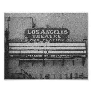Vieja muestra del teatro de Los Ángeles Fotografias
