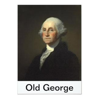 vieja prueba 5 de la etiqueta de George cancelada Invitación 12,7 X 17,8 Cm