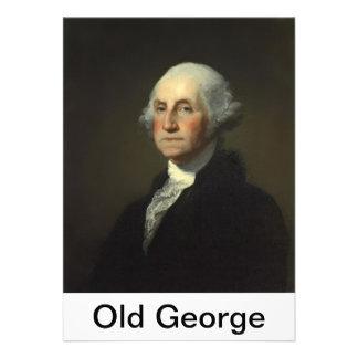 vieja prueba 5 de la etiqueta de George cancelada Invitacion Personalizada