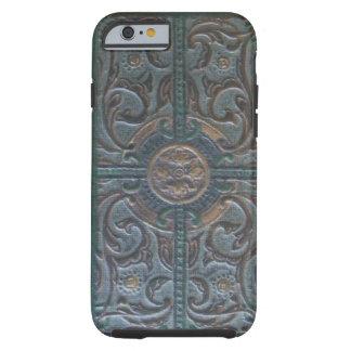 Vieja reliquia de cuero equipada funda resistente iPhone 6