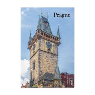 Vieja República Checa de ayuntamiento de Praga Lienzo