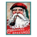 Vieja tarjeta postal de Navidades de Santa María d