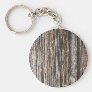 Vieja textura de madera de la pared llaveros