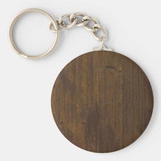 Vieja textura de madera marrón de la pared llavero