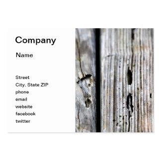 Vieja textura de madera tarjetas de visita grandes