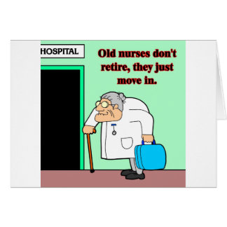viejas enfermeras tarjeta