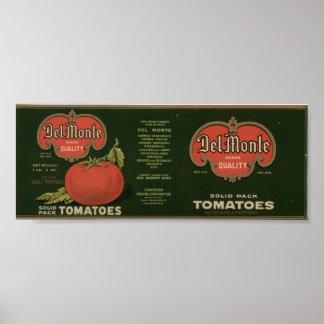 Viejas etiquetas del cajón de la fruta de los toma impresiones