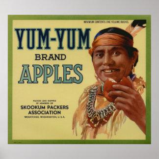 Viejas etiquetas indias del cajón de la fruta de A Impresiones
