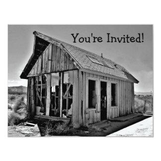 Viejas invitaciones abandonadas y detroyed de la invitación 10,8 x 13,9 cm