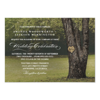 Viejas invitaciones del boda del roble de las