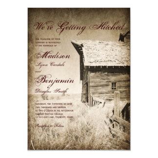 Viejas invitaciones rústicas del boda del país del