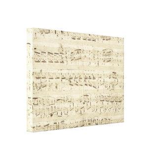 Viejas notas de la música - hoja de música de Chop Lona Envuelta Para Galerias