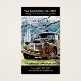 Viejas reparaciones del camión - foto del auto del tarjeta de negocios