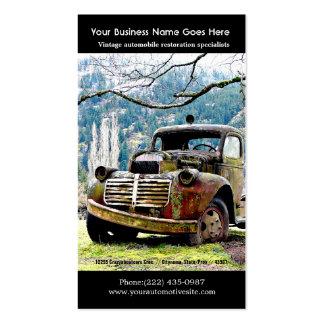 Viejas reparaciones del camión - foto del auto del tarjetas de visita