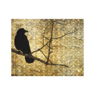 Viejo arte del cuervo del damasco
