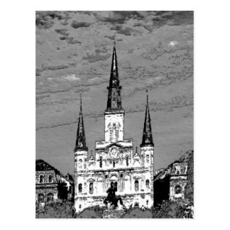 Viejo barrio francés de la catedral de St. Louis Postal