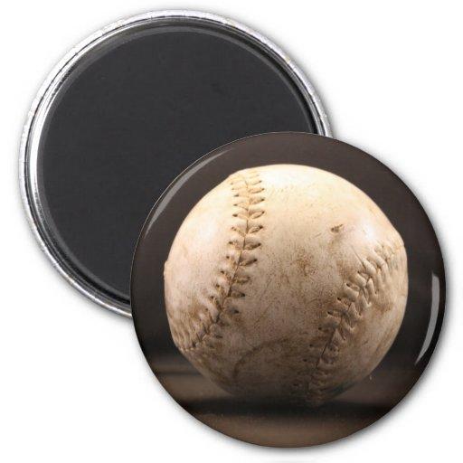 Viejo béisbol imán para frigorífico