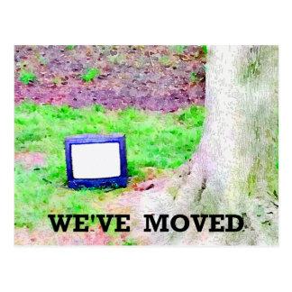 Viejo cambio del árbol el | de la televisión de postal