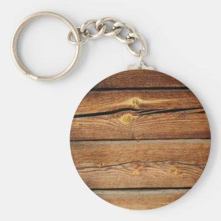 Viejo diseño de madera marrón de la pared llavero