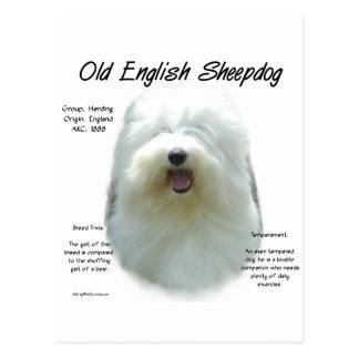 Viejo diseño inglés de la historia del perro pasto tarjetas postales
