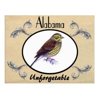 Viejo estado de Alabama de la postal del vintage