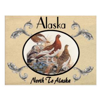 Viejo estado de Alaska de la postal de la