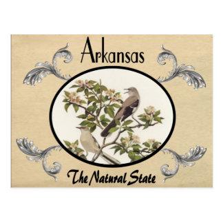 Viejo estado de Arkansas de la postal de la