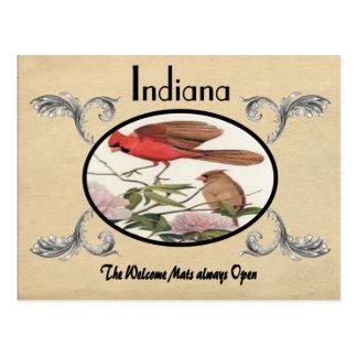 Viejo estado de Indiana de la postal de la