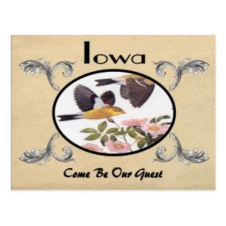 Viejo estado de Iowa de la postal de la apariencia