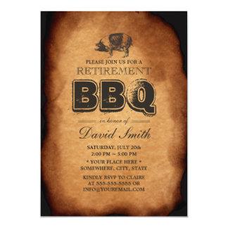 Viejo fiesta del Bbq del retiro de la carne asada Invitación 12,7 X 17,8 Cm