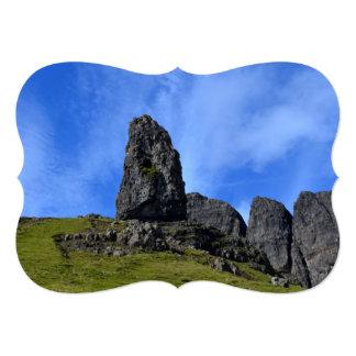 Viejo hombre de Storr en la isla de Skye Invitación 12,7 X 17,8 Cm