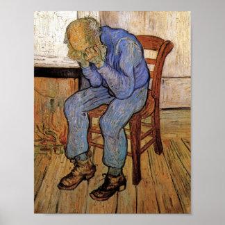 Viejo hombre en bella arte de Van Gogh del dolor