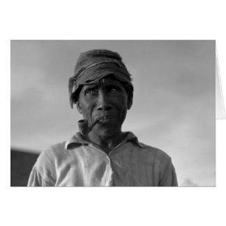 Viejo hombre en la plantación de Aldridge - 1937. Felicitación