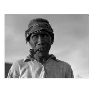 Viejo hombre en la plantación de Aldridge - 1937. Postal