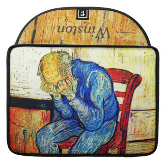 Viejo hombre Sorrowing de Van Gogh Fundas Para Macbooks