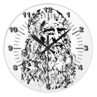 Viejo Leonardo Reloj Redondo Grande