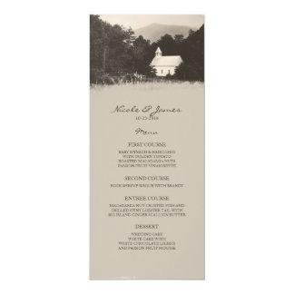 Viejo menú del boda de la iglesia de la montaña invitación 10,1 x 23,5 cm