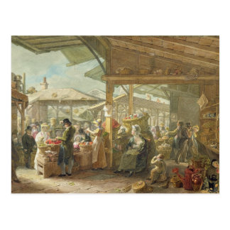 Viejo mercado del jardín de Covent, 1825 Postal