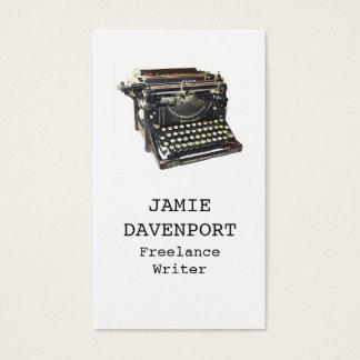 Viejo negocio del autor del periodista del tarjeta de negocios