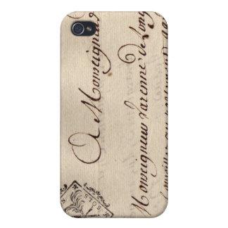 Viejo sello francés de los soles de Dijon Deux del iPhone 4 Carcasa